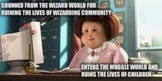Umbridge joining the muggle world in Despicable Me