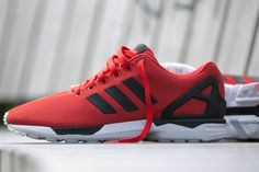 Enjoyble Unisex Adidas Zx Flux Breathable Running Shoes All Casual Black Red