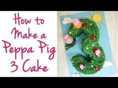 Peppa Pig Cake Tutorial | TamingTwins.com - YouTube