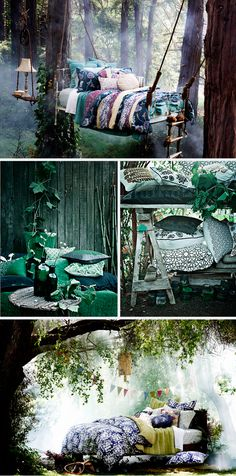 Bedroom, the Swedish way... Reminds me of the Swedish fairy tales I grew up hearing and reading!
