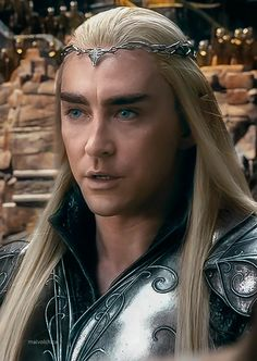 Lee Pace as Thranduil in The Hobbit Trilogies.