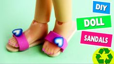 DIY Miniature Doll Sandals / Shoes - Easy Doll crafts - Simplekidscrafts