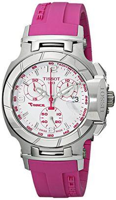 Tissot Women's T0482171701701 T-Race White Dial Pink Silicone Strap Watch Tissot http://www.amazon.com/dp/B005LVZSLY/ref=cm_sw_r_pi_dp_Fr2Pvb1G92AFM
