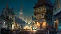 quite town, li moly on ArtStation at https://www.artstation.com/artwork/e4QAX