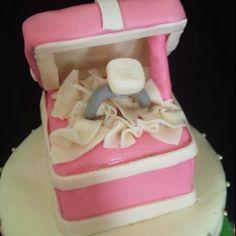 Engagement ring cake.