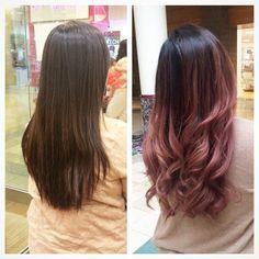 ombre hair rose quartz - Google Search
