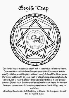 Ceremonial Magick:  #Ceremonial #Magick ~ Devil's Trap.