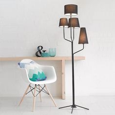 Beacon Lighting - Manhattan Floor Lamp in Black