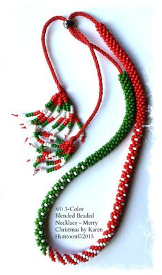 Blended Beaded Kumihimo Necklace Kit | Holiday Kumihimo Necklace Kit by Karen Huntoon | What a Braid