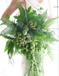 Brides, The Latest Trend In Bouquets Doesn't Involve Flowers - Greenery bouquet