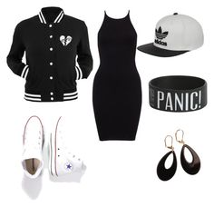 """Untitled #4"" by kayla-daniels on Polyvore featuring Converse, adidas and L. Erickson"