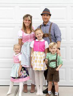 Dirndl and Lederhosen DIY  ||  Family Halloween Costume idea