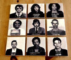 Celebrity Mugshot Prison Photo Coasters