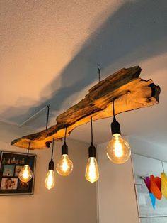 Diy Bedroom Decor, Diy Home Decor, Home Decor Kitchen, Rustic Lighting, Home Lighting, Track Lighting, Home Room Design, Interior Design Living Room, Wood Lamps