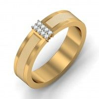 http://www.bluestone.com/jewellery/engagement-rings-mens.html  Sometimes, less is more. A simple gold band reflecting two textures of precious gold, set alight by a stunning centrepiece, this stunning ring, made especially for Him, is simple yet priceless, just like your love.