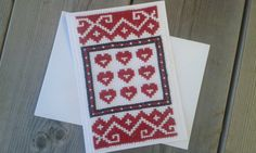 Happy Valentine Cross Stitch Pattern by CamisTheCrossStitch Easy Cross Stitch Patterns, Simple Cross Stitch, Types Of Stitches, Cross Stitch Pictures, Create Your Own, Valentines Day, Projects To Try, Greeting Cards, Colours