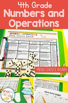This enrichment menu project is an amazing differentiation tool that not only empowers students through choice but also meets their individual needs.4th grade students can demonstrate their understanding of common core math standards that deal with numbers and operations such as 4.NBT.A.1, 4.NBT.A.2 and 4.NBT.A.3  #iteach4th #numbersandoperations #4thgrademath #mathclassroom