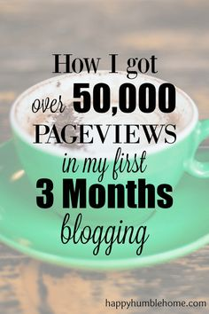 How I got over 50K Pageviews in my first 3 Months blogging! You can do it too!! Pageviews = Money!!