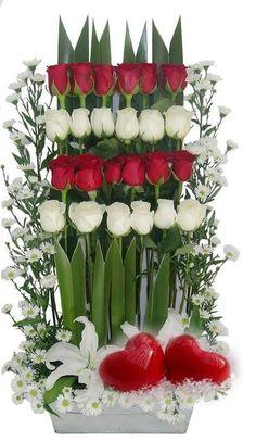 Gyönyörű romantikus rózsacsokor 💖💖💖