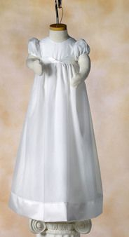 Knotted Ribbon Gown - White Elegance - Makers of LDS Temple Clothes, Temple Dresses, Pioneer Costumes and more