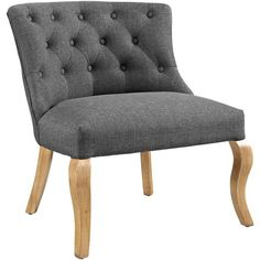 Modway Furniture Royal Fabric Armchair Wheatgrass By ($336) ❤ liked on Polyvore featuring home, furniture, chairs, accent chairs, upholstered armchair, upholstered club chairs, tufted armchair, padded chairs and fabric armchairs