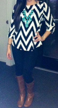 Chevron! I love everything about this outfit.
