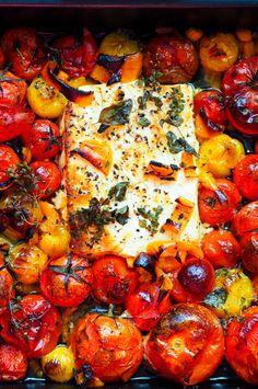 Uunifetapasta twistillä - Sweet Food O´Mine Pasta Recipes, Vegan Recipes, Vegetable Pizza, Sweet Recipes, Food And Drink, Vegetarian, Meals, Vegetables, Food Food