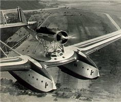 S55X flying boat. Many different design theories of its day were incorporated.
