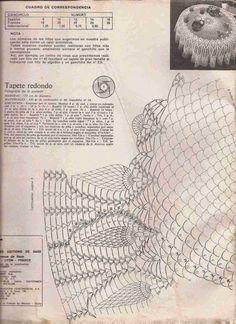 Bom dia !!!   Terminei minha toalha de crochet e como prometido, deixo o gráfico para quem possa interessar.   Para confeccioná-la f...