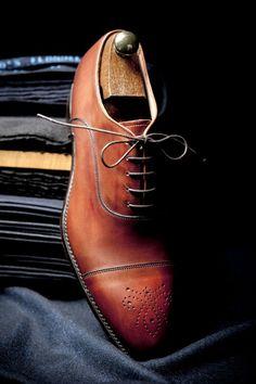 Phosphorus black dress shoes