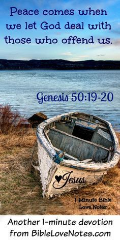 If you haven't pondered this one aspect of Joseph's story, you might want to do that. It may change the way you think about Joseph's brothers. This 1-minute devotion explains. Genesis 50:20.