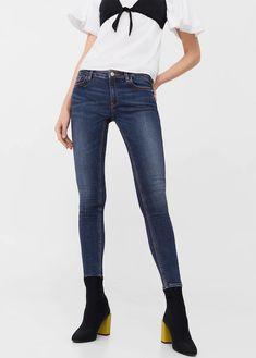 2ce844de582 Mango Kim Skinny Push-Up Jeans Dark Blue Size UK 8 rrp 29.99 DH087 EE