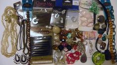 .99 cents for EVERYTHING!! ALL NEW shipping is cheap! C0ME TAKE A LOOK!JEWELRY AUCTION LOT nwt Swarovski crystal/glass/necklaces/cord/beads/etc. C PICS #VARIOUS