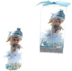 baby sitting on stork poly resin - blue Case of 48