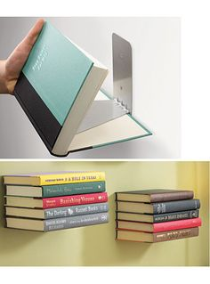 Large Floating Books Wall Shelf