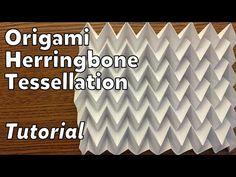 Origami Herringbone Tessellation   Tutorial - YouTube