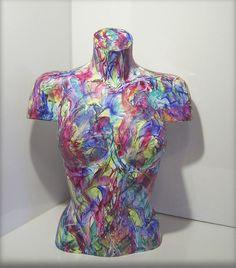 Kunstgalerie Winkler Moderne Acryl Malerei Abstrakt BüsteTorso Skulptur Neu