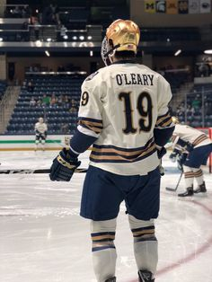 """Our commemorative uniforms to honor 50 years of Irish hockey are here and looking 💯 Go Irish, Sports Uniforms, Ice Hockey, Notre Dame, Twitter, Jackets, Down Jackets, Jacket, Hockey Puck"