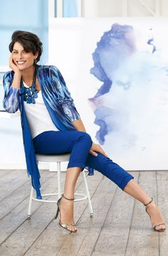 New Blues: From painterly prints to dazzling denim, it's time to cue the blues. #DestinationFabulous #travel #spring #chicos