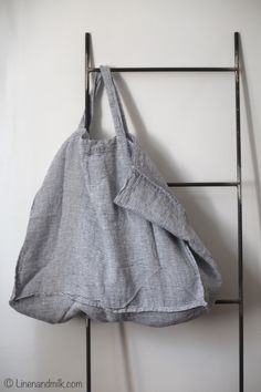 Cabas en lin linge particulier by LINEN AND MILK