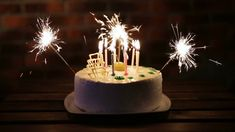 23 Brilliant Picture Of Birthday Cake Sparklers