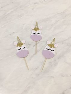 A personal favorite from my Etsy shop https://www.etsy.com/listing/546270914/unicorn-cupcake-toppers-unicorn-party