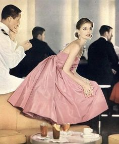 "Mary Hilem, photo by John Rawlings at Club Tropicana onboard the ""Santa Rosa"", Vogue, November 15, 1958 | flickr skorver1"