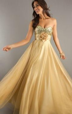 Sequined A-line Strapless Sweetheart Long Prom Dress Fuchsia/Gold/Blue/Purple