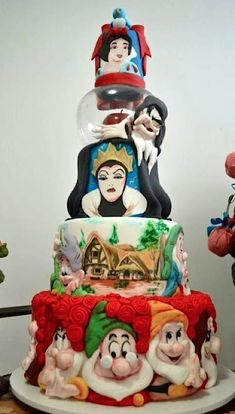 Princess Party ~ Dessert ~ Snow White Cake