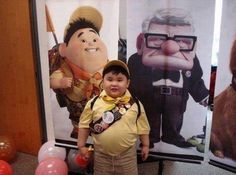 Russel from UP, Pixar cosplay. Funny Kids, Funny Cute, Cute Kids, Diy Halloween Costumes For Kids, Halloween Kostüm, Kid Costumes, Costume Ideas, Russel Up, Photo Humour