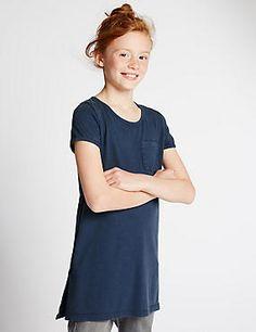 Short Sleeve Longline T-Shirt (5-14 Years)