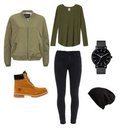 """TOMBOY"" by laurynmillerofficial on Polyvore featuring Maison Scotch, Paige Denim, Timberland, Free People and The Horse"