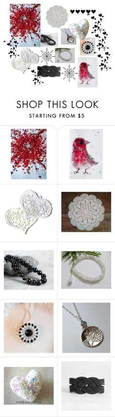 """""""Red Splash"""" by keepsakedesignbycmm ❤ liked on Polyvore featuring gift, jewelry, art, accesories and homedecor"""