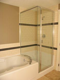 resultado de imagem para glass tub and shower enclosures kitchens